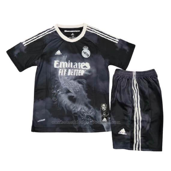 camiseta niños human race x pharrell real madrid 2020-2021