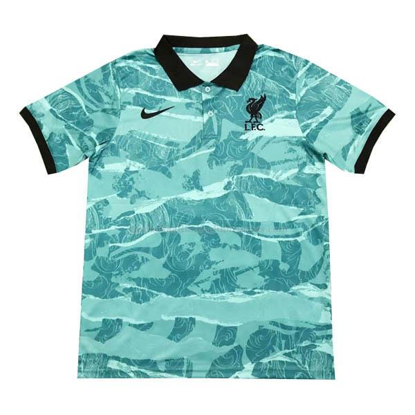 camiseta polo liverpool verde 2020-2021