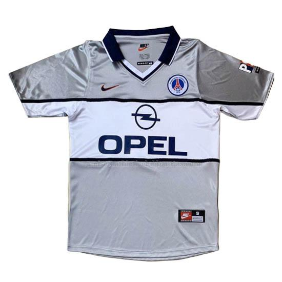 camiseta retro del paris saint-germain del 2ª equipación 2000