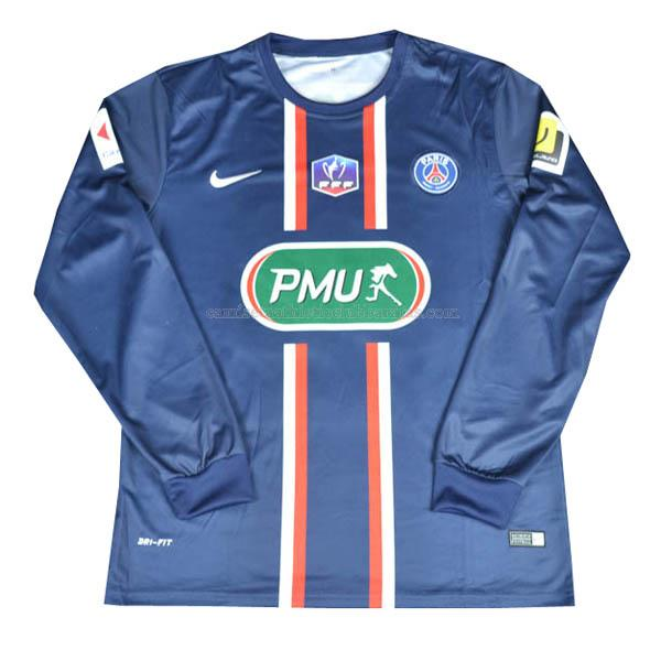 camiseta retro manga larga del paris saint-germain del 1ª equipación 2011-13